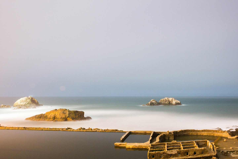 A photo of sutro baths by Adam Morse